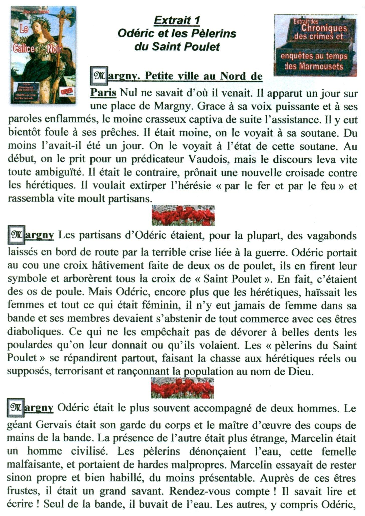 Extrait 1:  Odéric et les pèlerins du Saint Poulet dans extraits numerisation0086